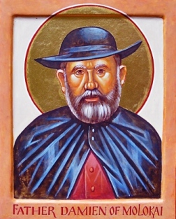damien of molokai Jozef de veuster was born in belgium on january 3, 1840 at the age of 20, he joined the congregation of the sacred hearts of jesus and mary, a missionary order, taking the religious name damien.