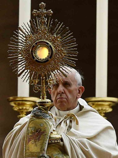 Pope Francis - Monstrance